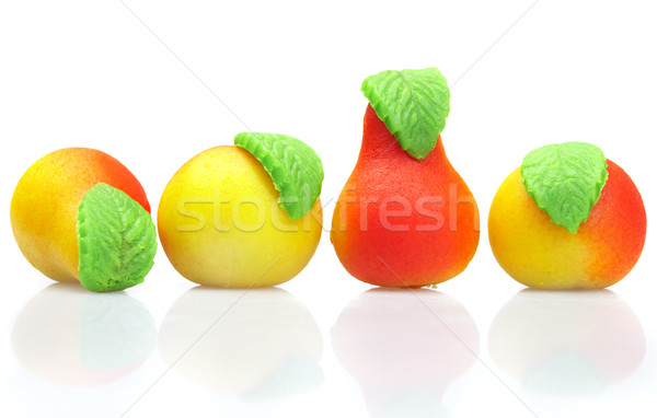 Sweets marzipan. In the form of fruit Stock photo © cookelma