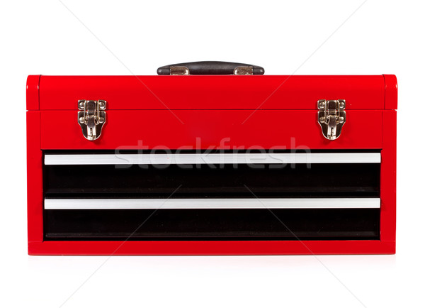 red metal toolbox Stock photo © cookelma