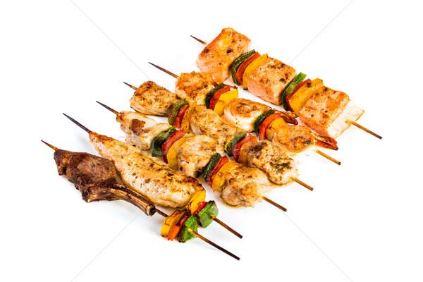 おいしい 肉のグリル ケバブ 白 食品 レストラン ストックフォト © cookelma