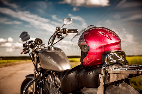 Stock photo: Motorcycle on the road