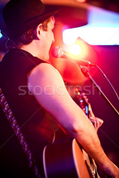 Müzisyen gitar konser Stok fotoğraf © cookelma