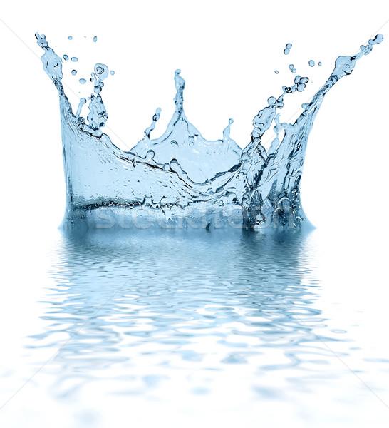 Sparks mavi su beyaz soyut içmek Stok fotoğraf © cookelma