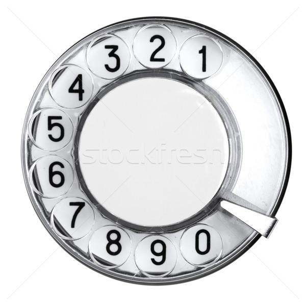 Kadran Retro telefon eski numara konuşmacı Stok fotoğraf © cookelma
