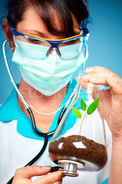 Scientist Checking Health Of A Life Stock photo © cookelma