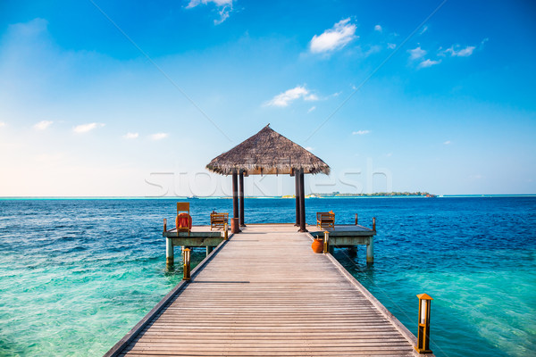 Maldives lieu plage mariages soleil nature Photo stock © cookelma