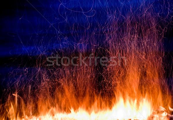 Stok fotoğraf: Yangın · fotoğraf · karanlık · mavi · soyut · doğa