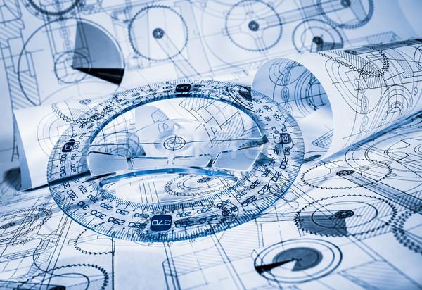 Technical drawings Stock photo © cookelma