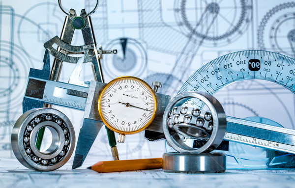 технической рисунок инструменты служба строительство работу Сток-фото © cookelma