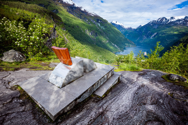 Geiranger fjord observation deck, Norway. Stock photo © cookelma