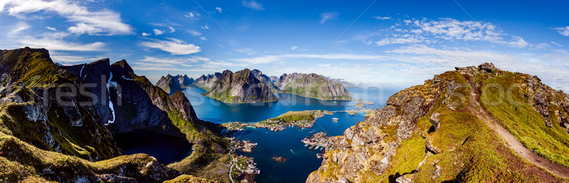 архипелаг Панорама Норвегия декораций драматический гор Сток-фото © cookelma