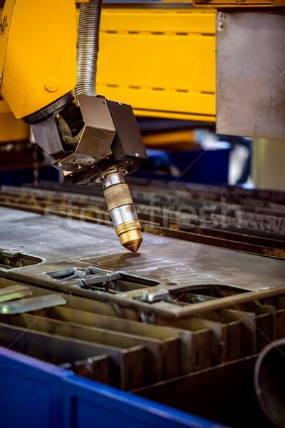 Lazer plazma Metal modern endüstriyel Stok fotoğraf © cookelma