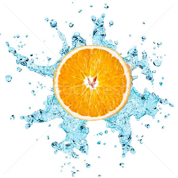 Stock fotó: Narancs · víz · édesvíz · csobbanás · kék · eszik