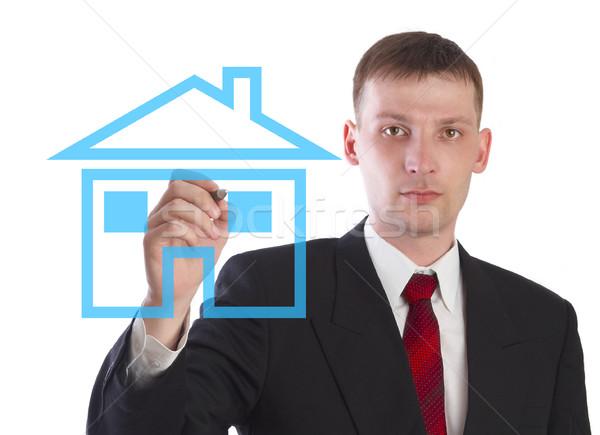 Menedzser vásár ingatlan terv otthon fiatal Stock fotó © cookelma