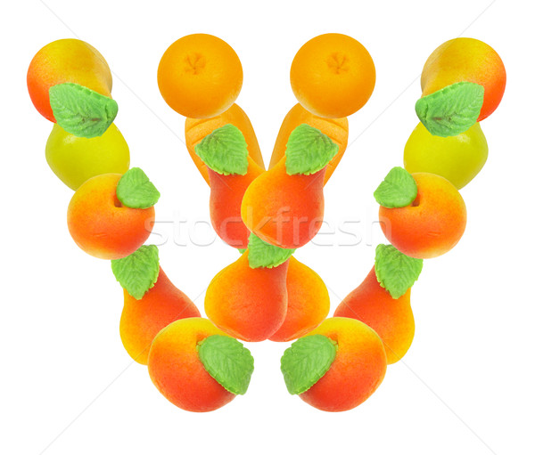 alphabet from fruit, the letter W Stock photo © cookelma