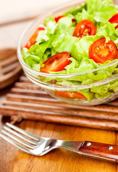 Friss saláta ízletes vegetáriánus étel fény egészség Stock fotó © cookelma