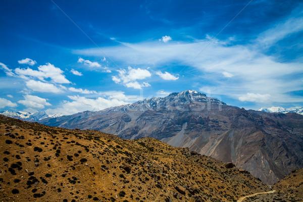 Stockfoto: Vallei · hemel · schoonheid · berg · zomer · groene