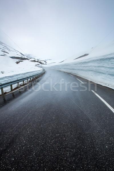 Mountain road in Norway. Stock photo © cookelma