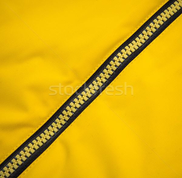 Fermuar sarı dizayn kumaş renk Stok fotoğraf © cookelma