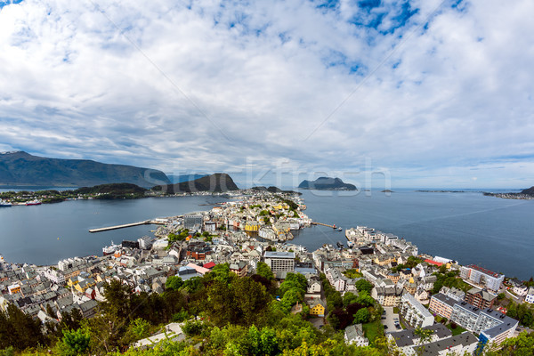 City of Alesund Norway Stock photo © cookelma