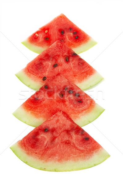 Karácsony görögdinnye gyümölcs friss Stock fotó © cookelma