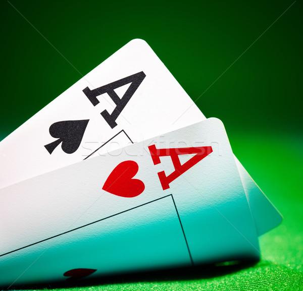 Aces jugar juegos juego estrategia par Foto stock © cookelma