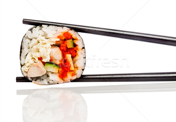 Sushis rouler blanche savoureux alimentaire poissons Photo stock © cookelma