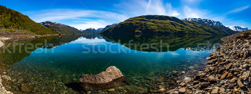 Panorama Beautiful Nature Norway. Stock photo © cookelma