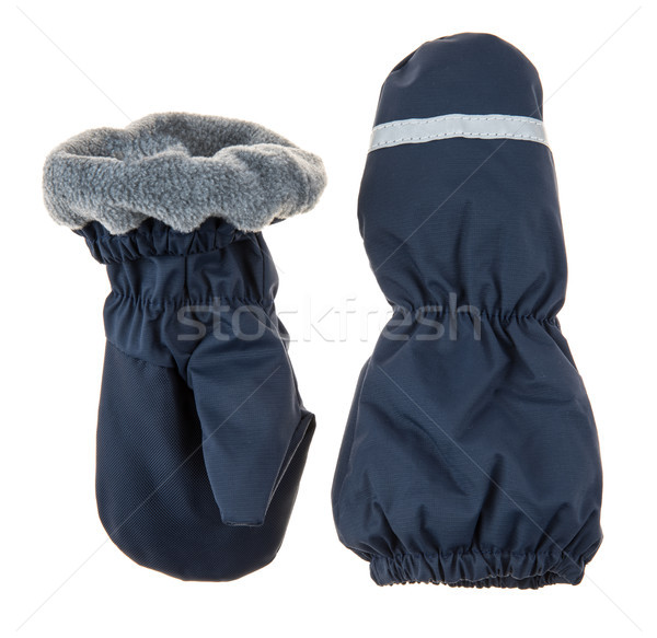 Children's autumn-winter mittens Stock photo © cookelma