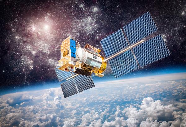 Espaço satélite planeta terra terra elementos imagem Foto stock © cookelma