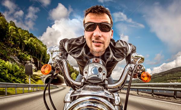 Сток-фото: смешные · Солнцезащитные · очки · Racing · горные