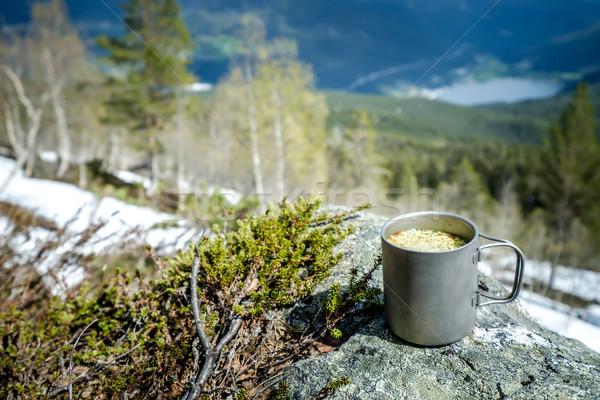 Travel titanium cup Stock photo © cookelma