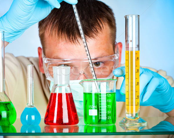 scientist in laboratory  Stock photo © cookelma