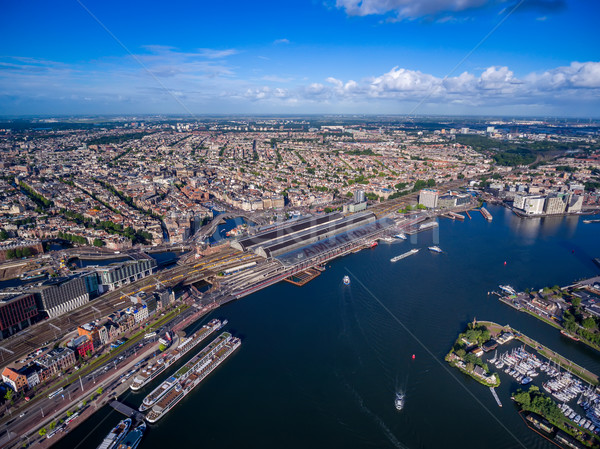 City aerial view over Amsterdam Stock photo © cookelma