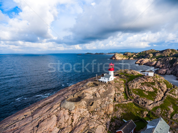 Faro Norvegia bella natura naturale panorama Foto d'archivio © cookelma