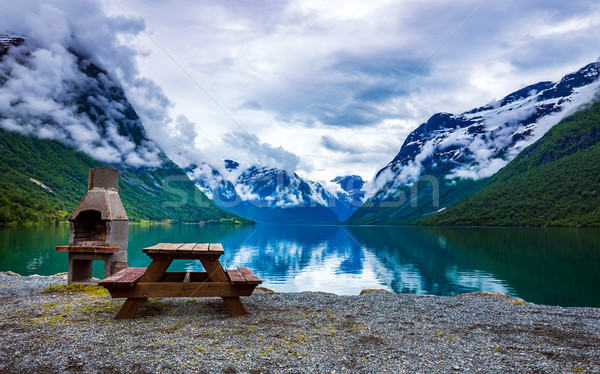 lovatnet lake Beautiful Nature Norway. Stock photo © cookelma