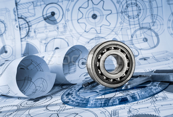 Technical drawings with the bearing Stock photo © cookelma