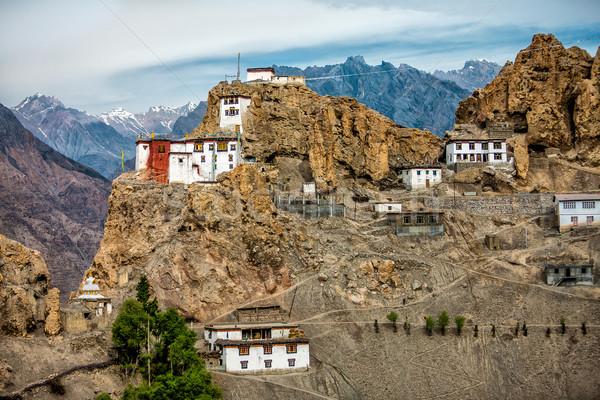 Indie dolinie niebo wiosną górskich lata Zdjęcia stock © cookelma