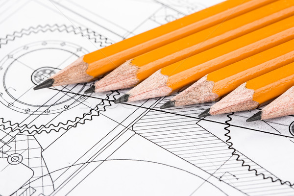 Drawing detail and pencil Stock photo © cookelma