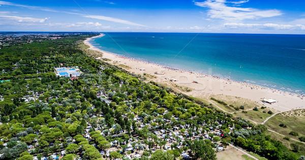 пляж морем антенна солнце синий весело Сток-фото © cookelma