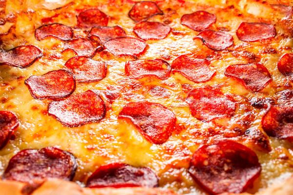Stock fotó: Pepperoni · pizza · közelkép · étvágygerjesztő · tömés · keret