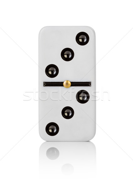 Uno azulejo fondo blanco patrón juego Foto stock © cookelma