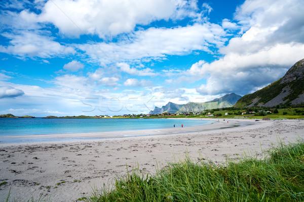 Сток-фото: пляж · архипелаг · Норвегия · декораций · драматический