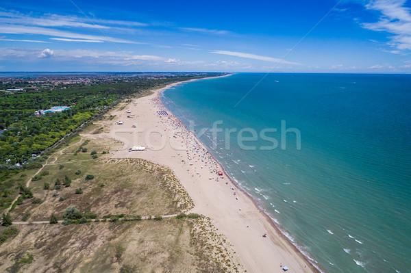 Italy, the beach of the Adriatic sea. Rest on the sea near Venic Stock photo © cookelma