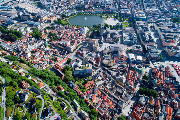 Bergen is a city and municipality in Hordaland on the west coast Stock photo © cookelma