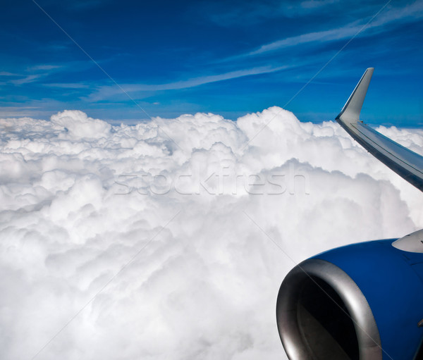 Hemel vliegtuig voorjaar natuur ruimte Stockfoto © cookelma
