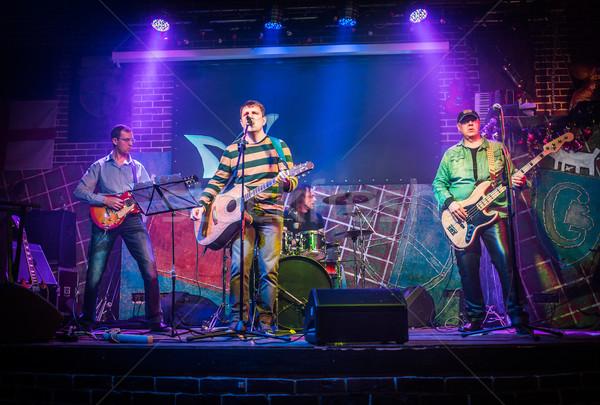 Zenekar színpad rockzene koncert figyelmeztetés autentikus Stock fotó © cookelma