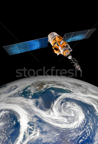 ストックフォト: スペース · 衛星 · 地球 · 地球 · 要素 · 画像