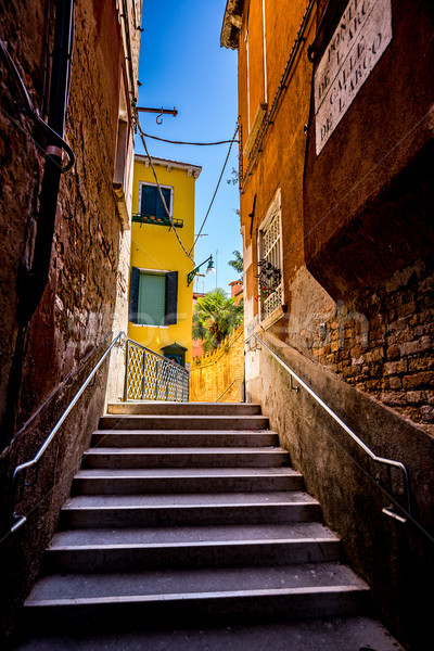 Narrow streets of Venice Stock photo © cookelma