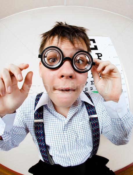 Osoby okulary biuro lekarza dzieci Zdjęcia stock © cookelma