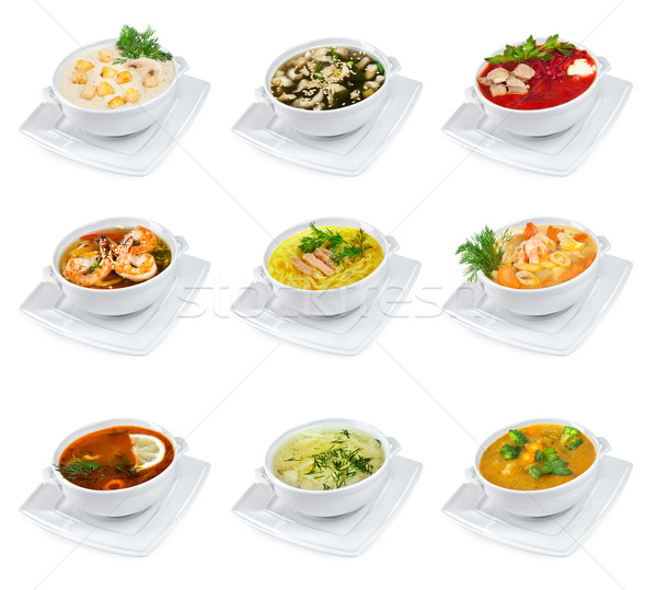 Soups isolated Stock photo © cookelma